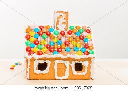 A Gingerbread House Prepared Handcrafted A Child