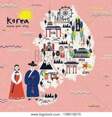 Korea Travel Map