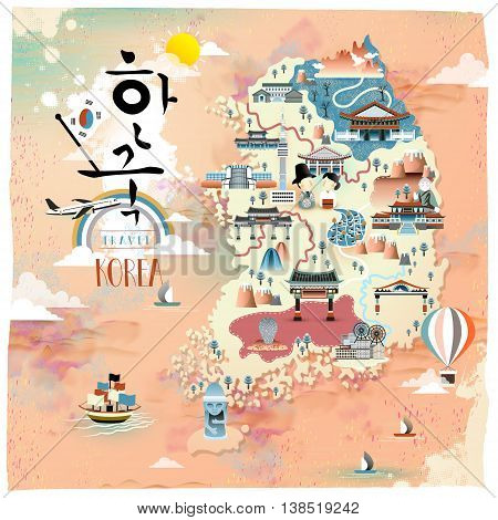 Korea Travel Map Design