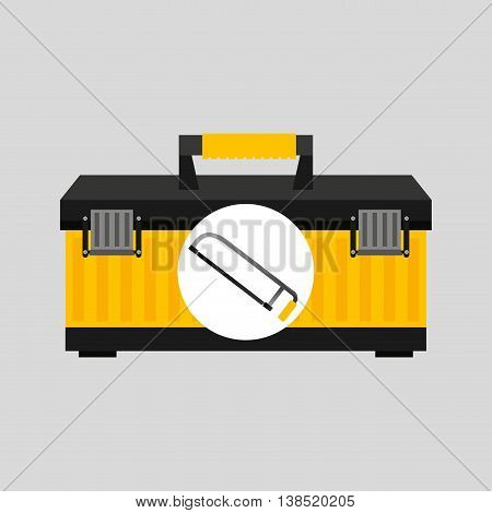 Coping saw and construction tool icon, vector illustration