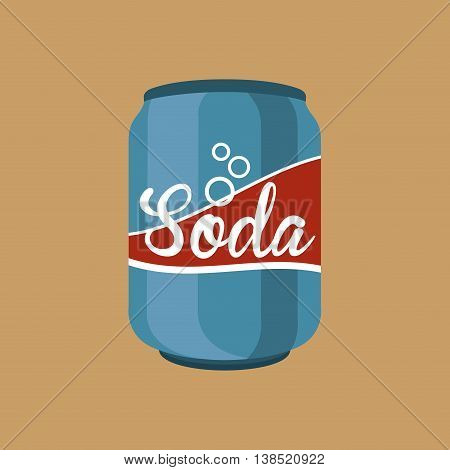hand holding with soda icon, vector illustration