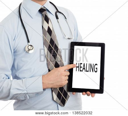 Doctor Holding Tablet - Healing