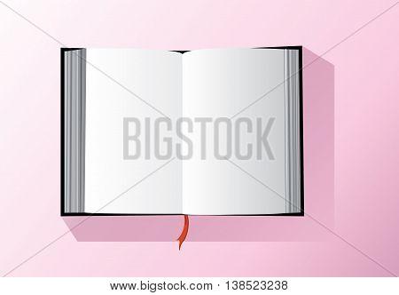 empty book vector , open the empty book