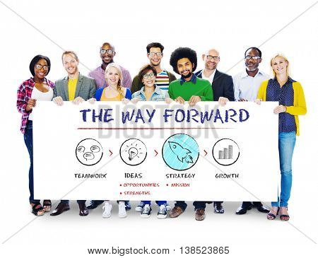 The Way Forward Business Plan Growth Strategy Concept