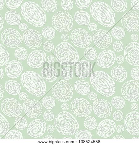 Vector doodle minimalistic abstract round seamless pattern