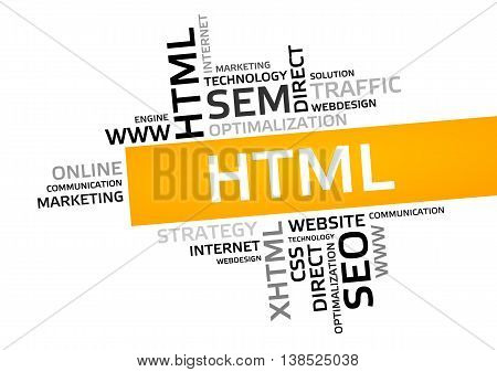 Html Word Cloud, Tag Cloud, Vector Graphic