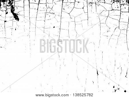 Cracked texture white and black. Grunge sketch effect texture. Crack design for design ground wall concrete paint earth. Stylish modern background for different print products. Vector illustration