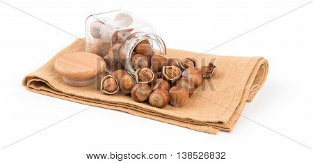 Hazelnut isolated on white background. Hazelnut isolated on white background.