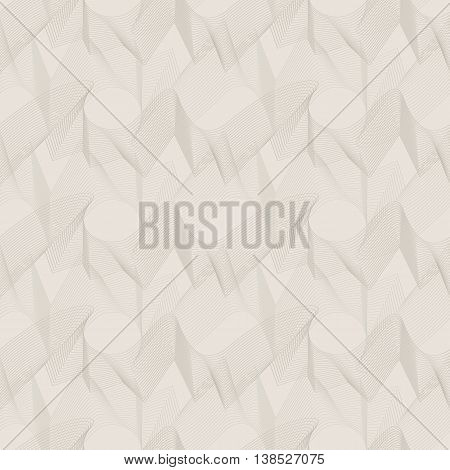 Vector seamless pattern. Unobtrusive abstract texture of wavy lines.