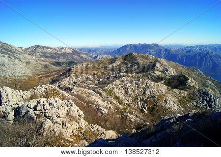 Desert landscape in the highlands (Massif Orjen, Montenegro)