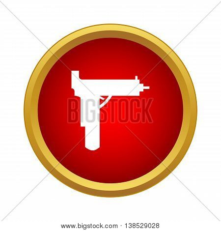Gun icon in simple style on a white background