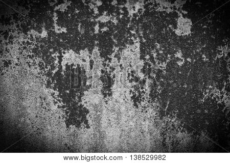 Dirty old cement wall, Black and White, For texture and background.