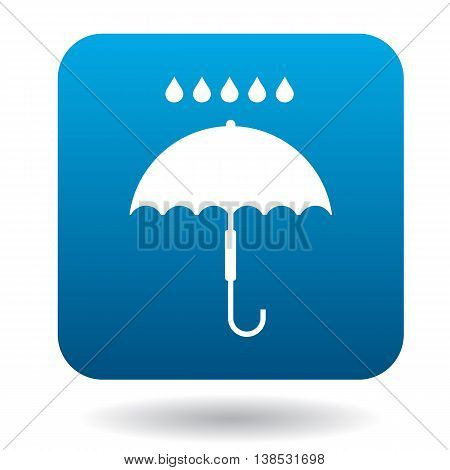Umbrella icon in simple style on a white background