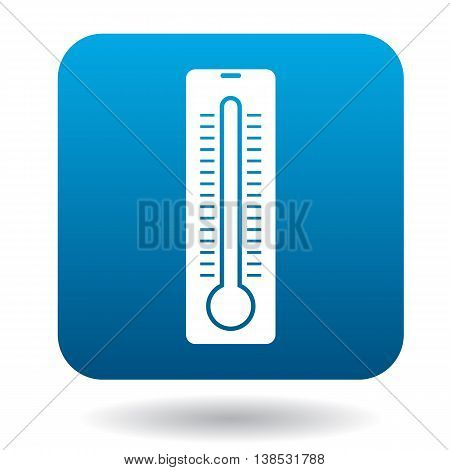Thermometer icon in simple style on a white background