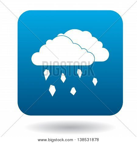Clouds and hail icon in simple style on a white background