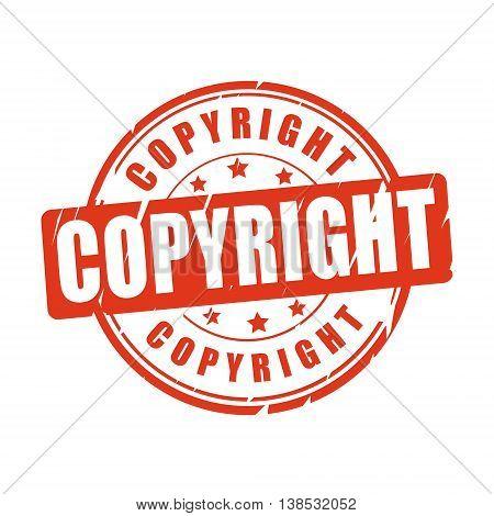 Copyright vector illustration stamp on white background