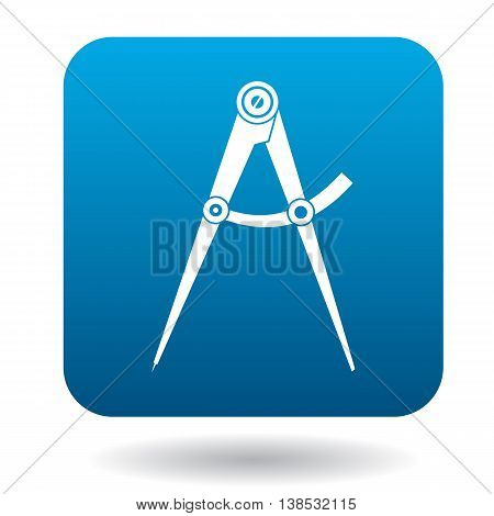 Compass tool icon in simple style on a white background