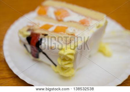 a piece of birthday cake horizontal composition