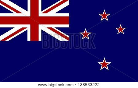 Flag of New Zealand - vector graphic