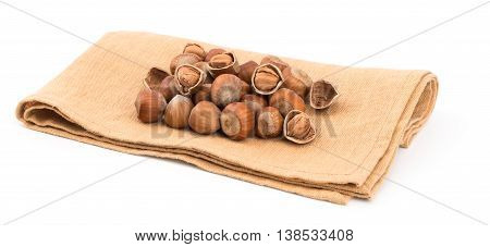 Hazelnuts isolated on white background. Hazelnuts isolated on white background.
