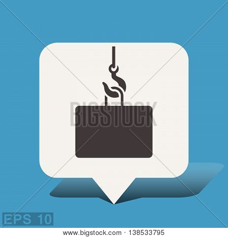 Pictograph of crane hook. Vector concept illustration for design. Eps 10