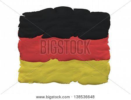 German national flag made of plasticine (national symbol).