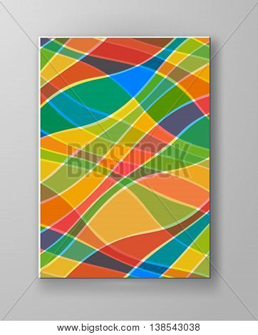 Abstract candy color design templates. Brochures unusual color shapes style. Vintage sweets frames and backgrounds. Vector Illustration.
