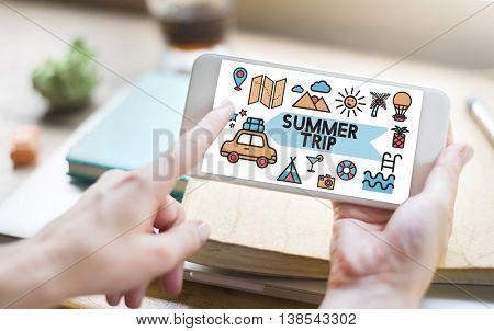 Travel Vacation Sun Fun Enjotment Concept