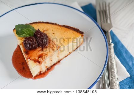 Cottage Cheese Casserole With Strawberry Jam