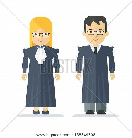 Profession Judge Man And Woman