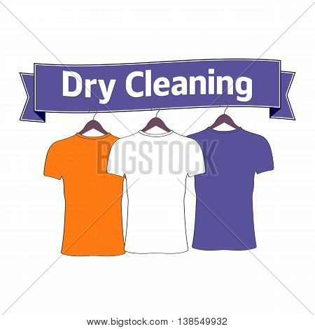 Dry cleaning. Dry cleaning logo. Concept for logo, label, poster and banner design.