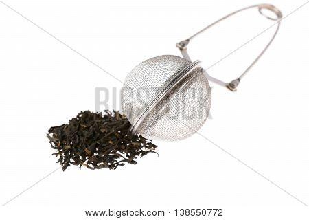Leaf Tea And Strainer