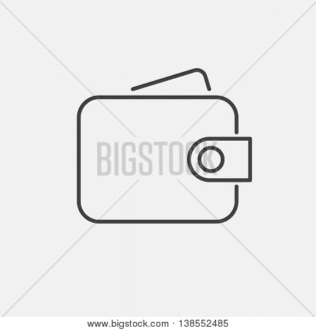 Purse. Line Icon Vector. Sign isolated on white background. Flat design style.