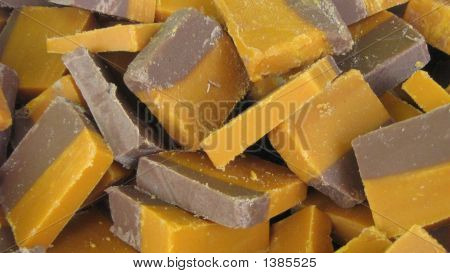 Fudge With Chocolate And Toffee. Confectionery
