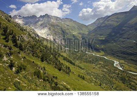 Landscape in the swiss alps, canton berne; switzerland