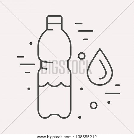 logo or label drink. Line style logotype template with water. Easy to use business template. Vector abstract logo or emblem.