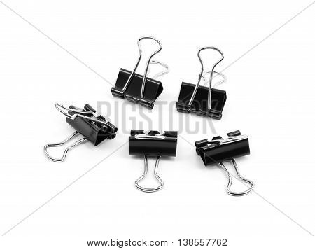 Binder clip Paper clip isolated on white background