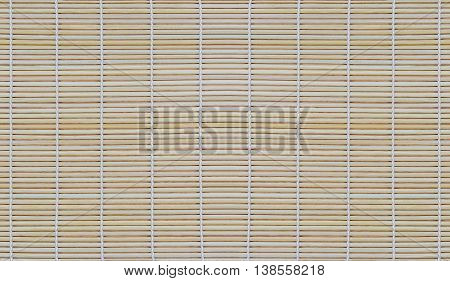 Dried bamboo mat for roll food bamboo texture background