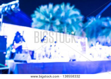 Abstract blur of beer garden