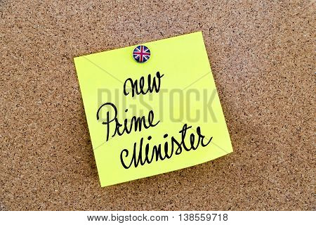Written Text New Prime Minister