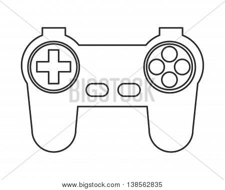 flat design game controller icon vector illustration