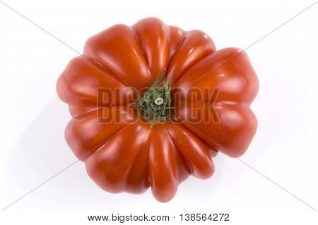 Heirloom tomato isolated on a white background