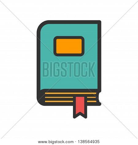 Office folder with bookmark icon. Vector illustration
