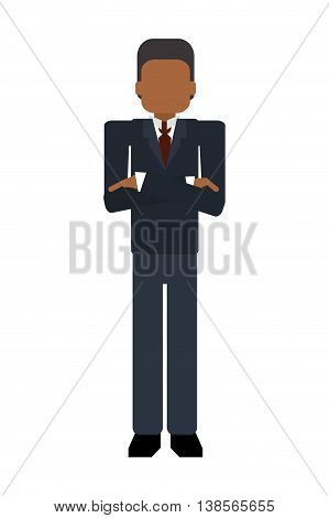 flat design faceless businessman portrait icon vector illustration