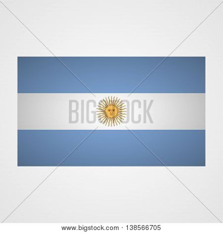 Argentina flag on a gray background. Vector illustration