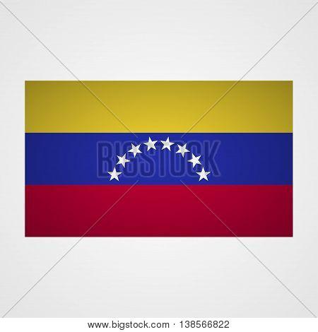 Venezuela flag on a gray background. Vector illustration