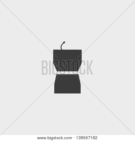 Simple Podium Icon in a flat design in black color. Vector illustration eps10