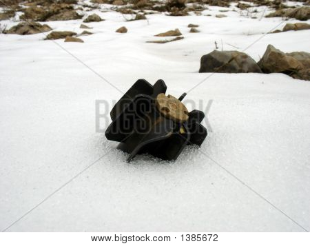Mortar In Snow