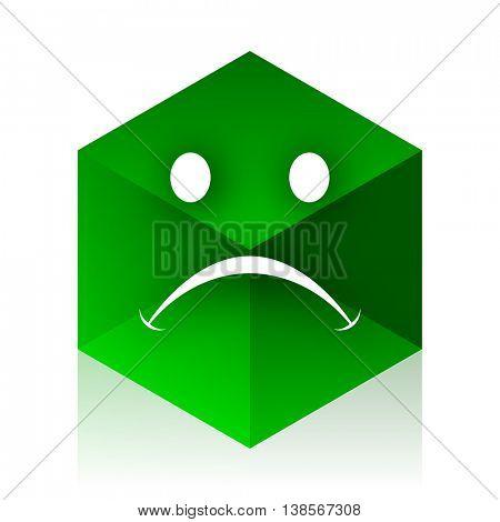 cry cube icon, green modern design web element