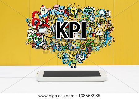 Kpi Concept With Smartphone